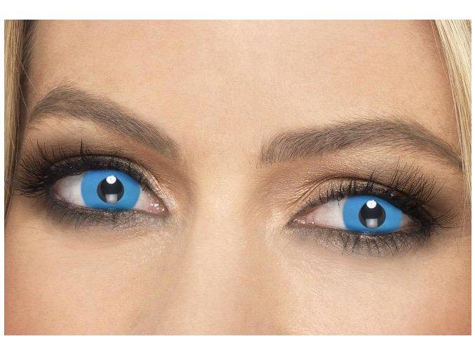 Barevné kontaktní čočky modré Harlequin levně