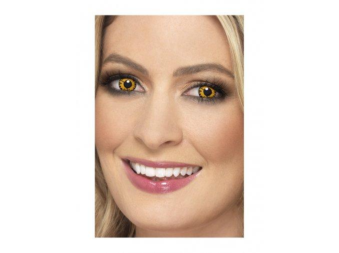 Barevné halloween kontaktní čočky žluté