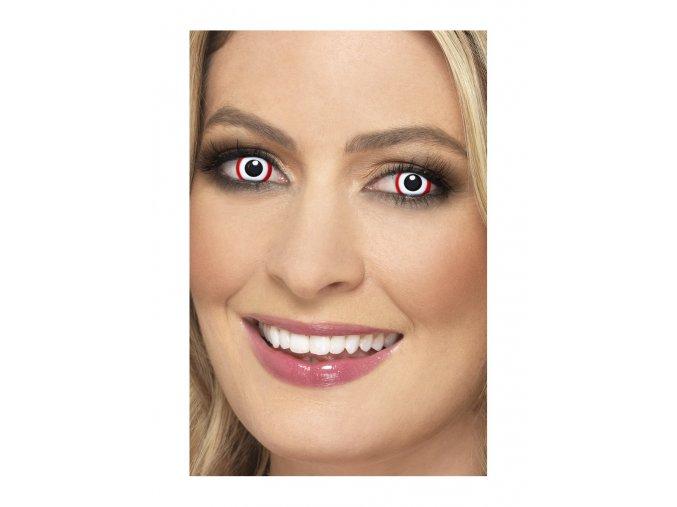 Halloween kontaktní čočky bílé