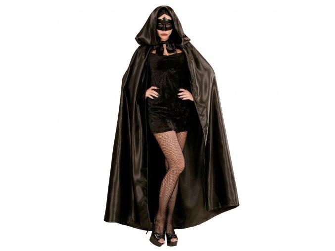 Dlouhý černý plášť deluxe