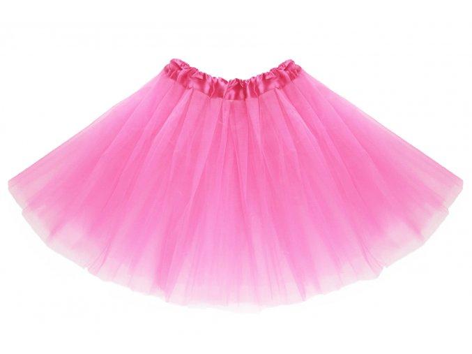 tutu tylová sukně růžová na karneval a párty