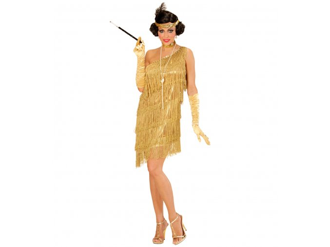 Dámský kostým 20. léta zlatý
