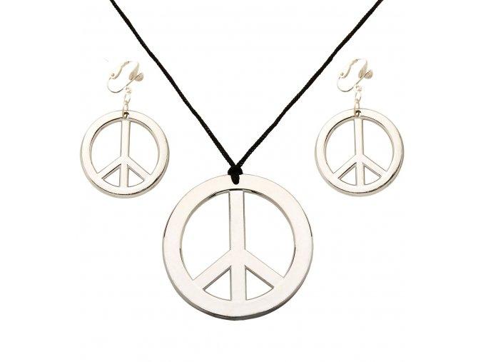 Hippies náhrdelník a náušnice