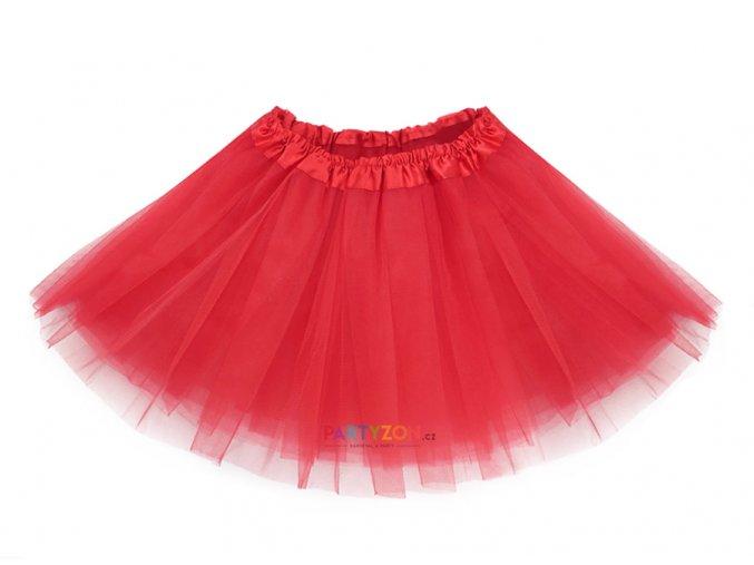 tylová tutu sukně pro děti červená