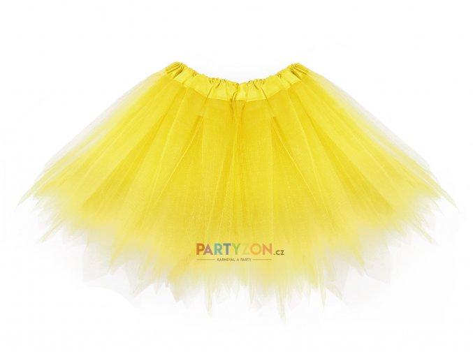 tylová tutu sukýnka žlutá pro děti