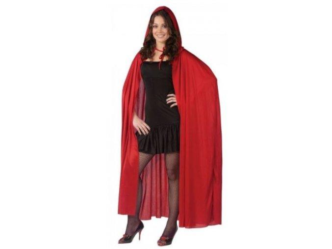 dlouhý červený plášť s kapucí červená karkulka