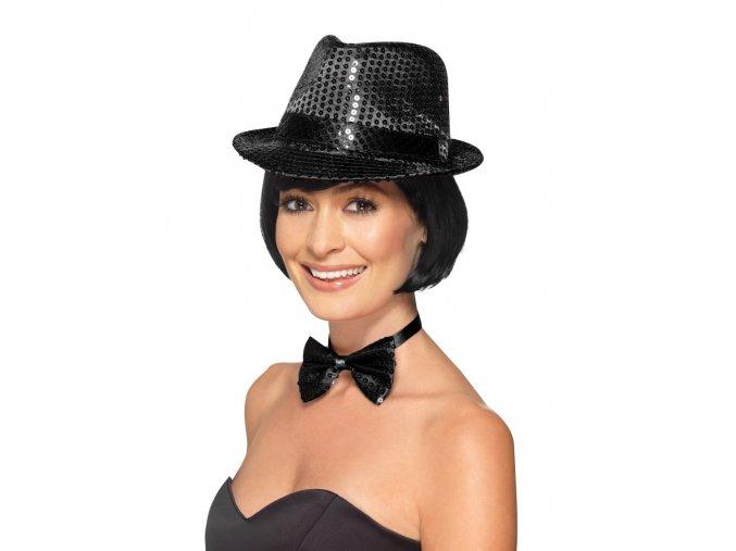 Černý párty klobouk fedora