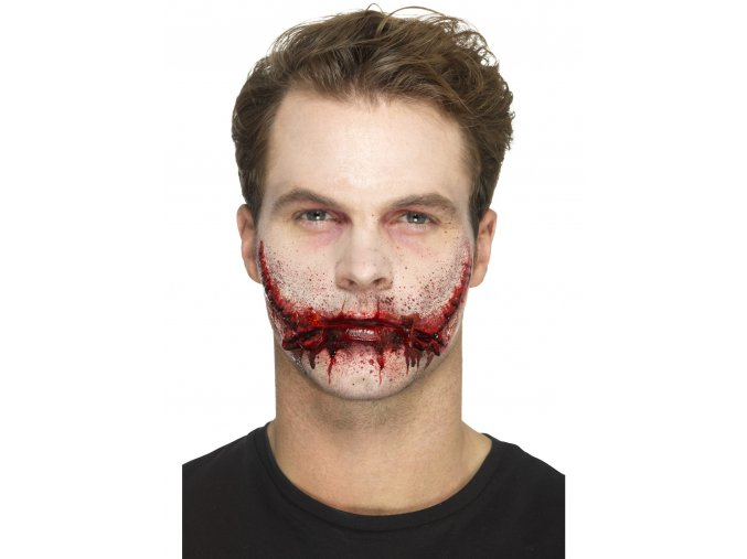 halloween umělé zranění úsměv joker