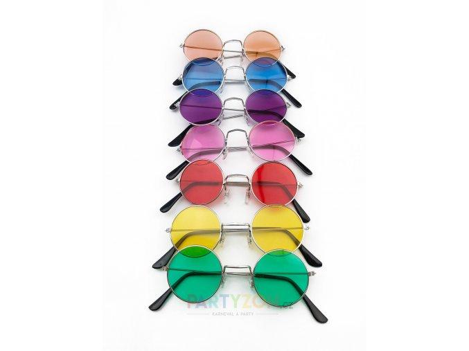 brýle lenonky modré hippie