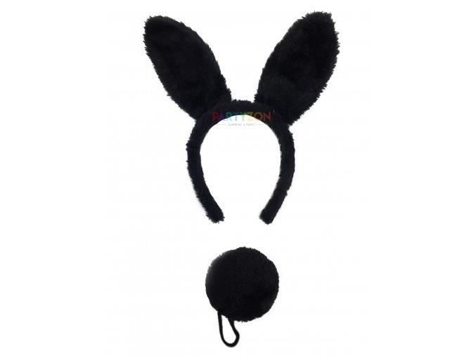 černé králičí uši čelenka