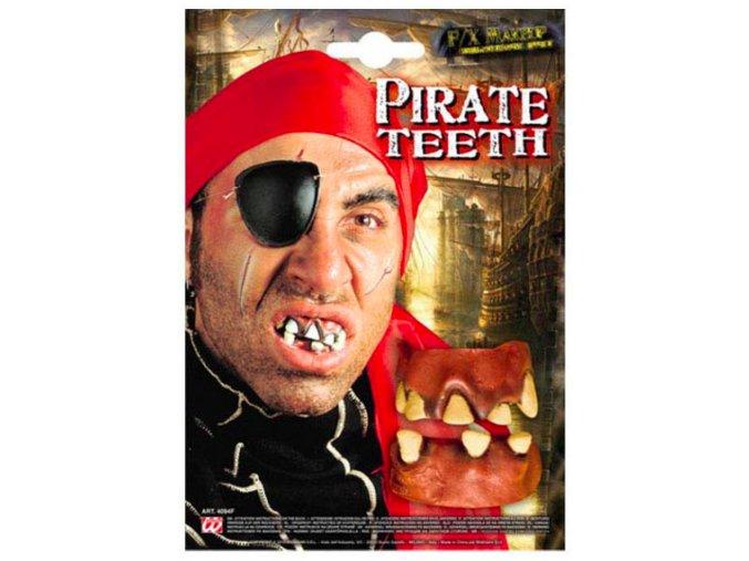 Gumové zuby křivé pirát
