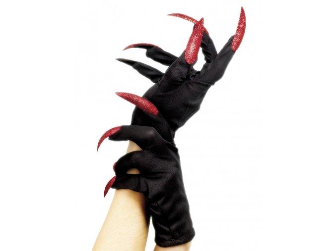 Čarodějnické rukavice s nehty