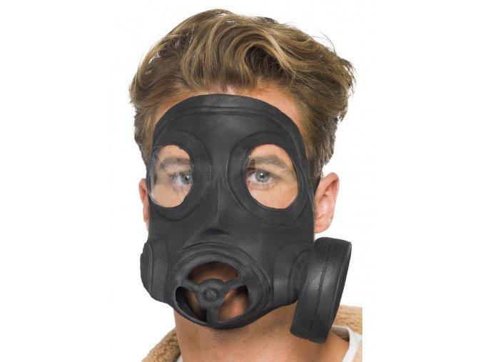 Gumová plynová maska