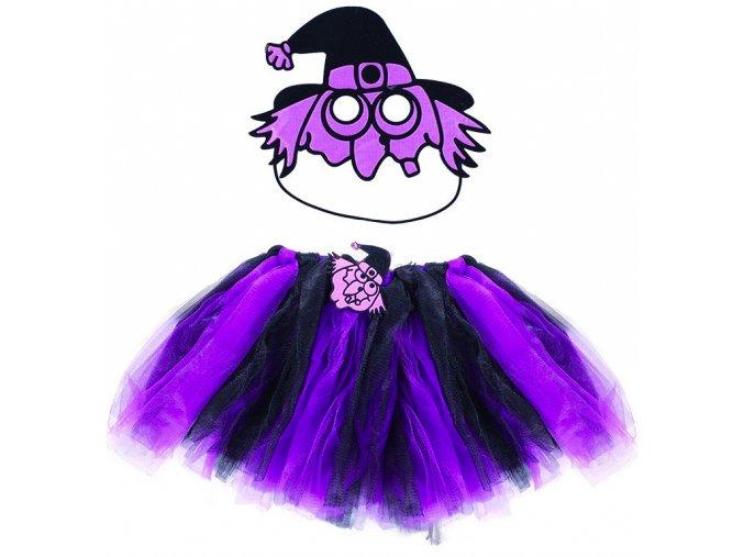 Kostým čarodějnice tutu sukně a maska