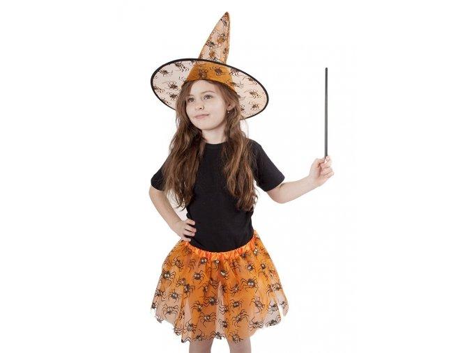 Kostým čarodějnice sukně a klobouk