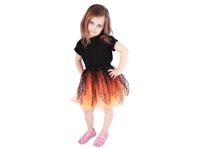 Tutu sukně oranžová s pavučinou