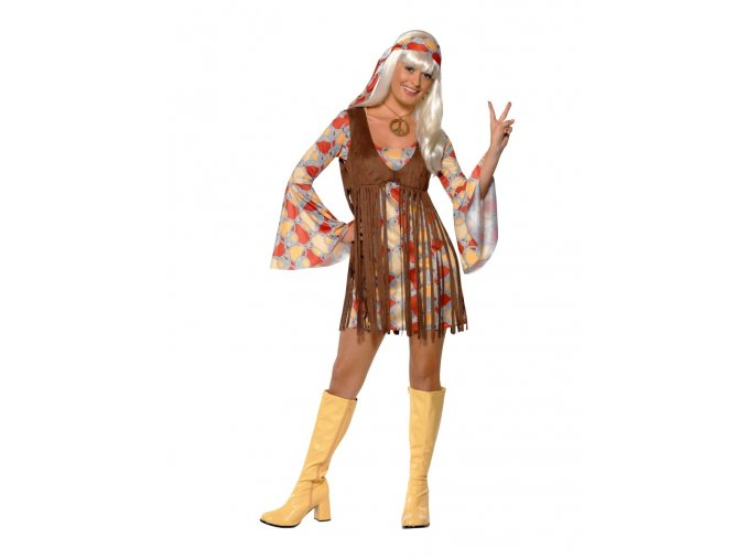 kostým hippies šaty