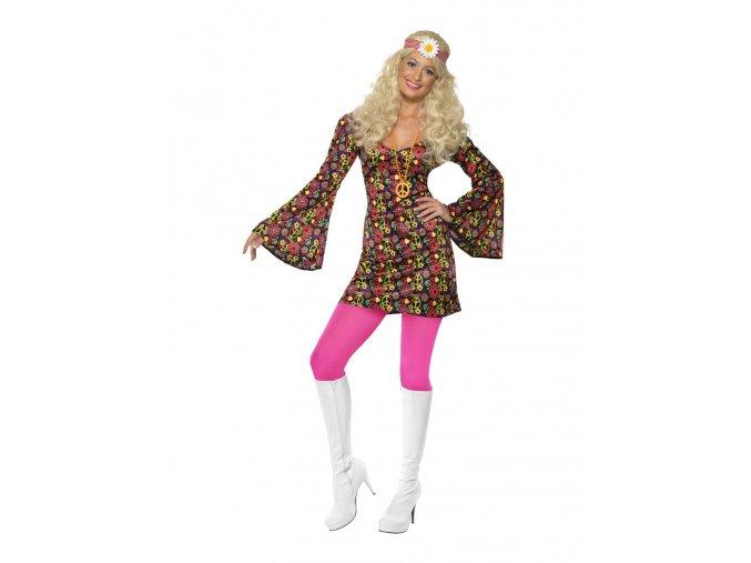 Dámský kostým hippies šaty peace