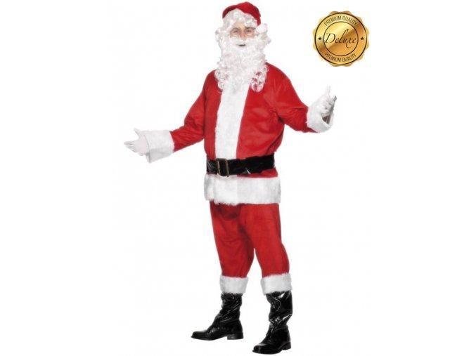 Vánoční kostým Santa s vousami deluxe