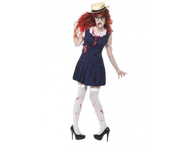 zombie halloween kostým školačka