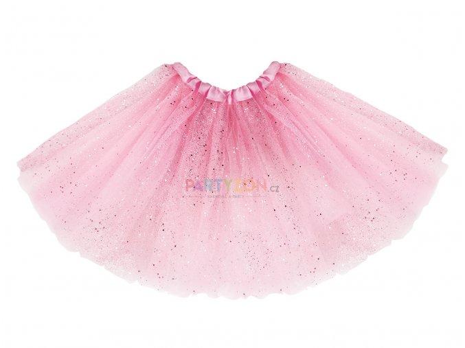 růžuvá tutu sukně třpytky