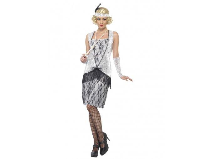Kostým styl 20. léta stříbrný retro
