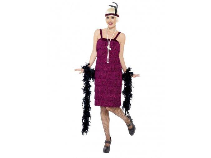 Dámský kostým Flapper jazz vínový
