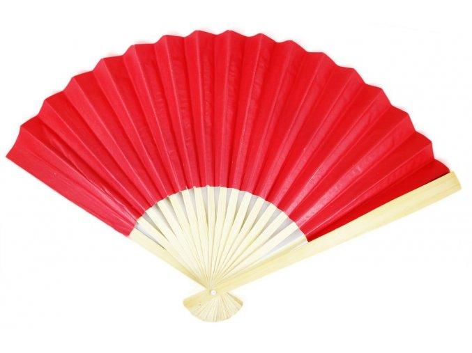 Červený vějíř papírový