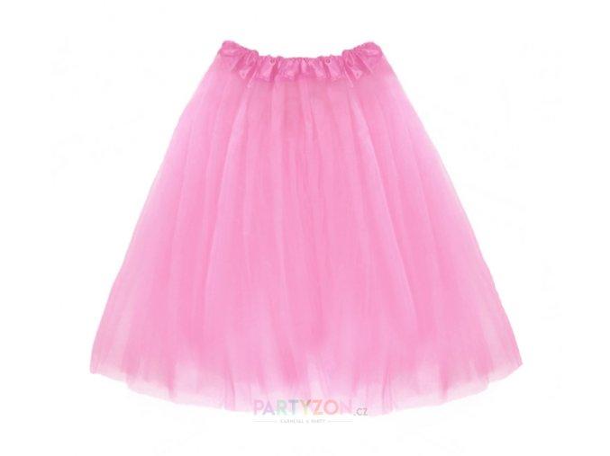 dlouhá tutu sukně růžová 70 cm partyzon
