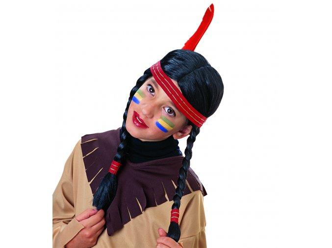 dětská paruka indiánka s copánky