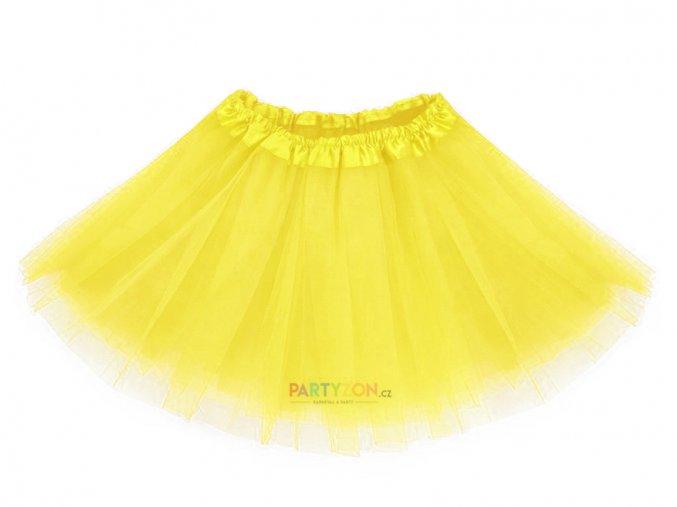 žlutá tutu sukně pro děti partyzon