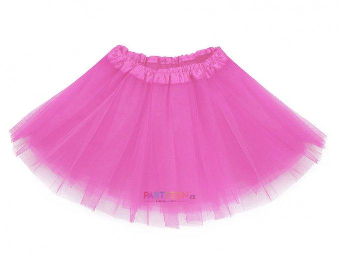růžová tutu sukně pro děti partyzon