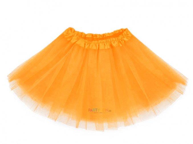 ORANŽOVÁ tutu sukně pro děti