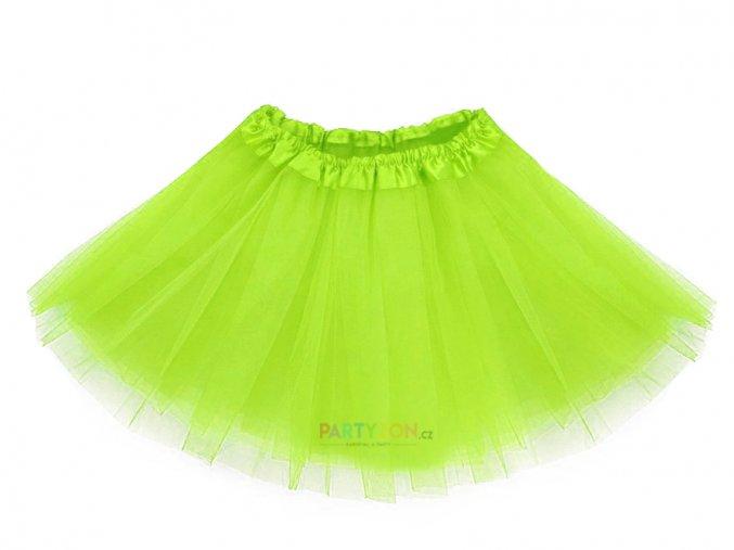 zelená tutu sukně pro děti partyzon