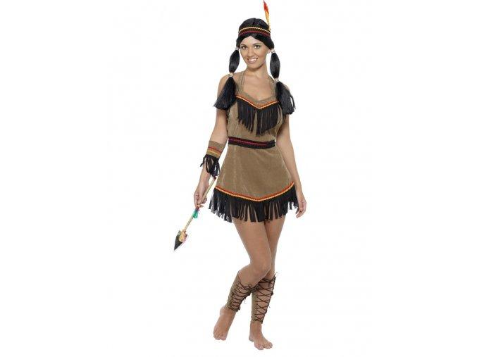Dámský indiánský kostým semišový
