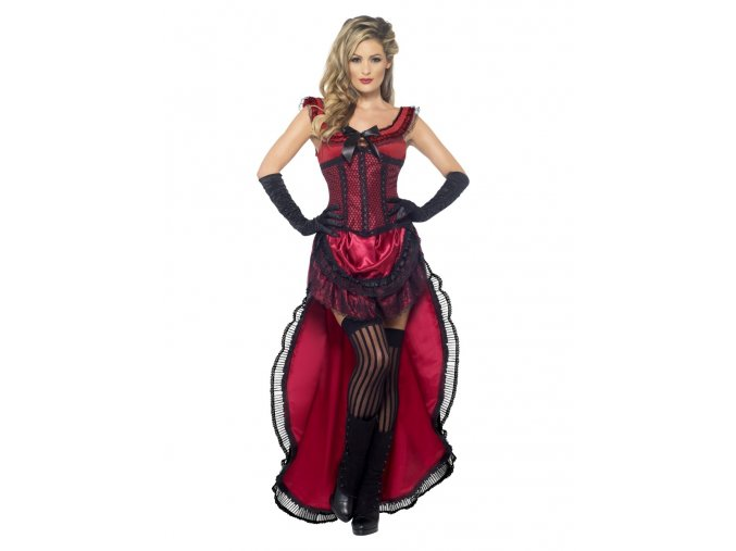 Dámský kostým červený kabaret partyzon
