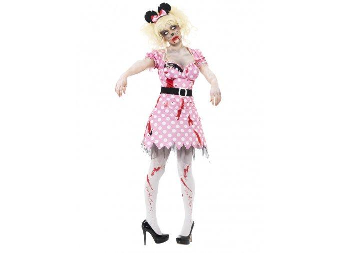 Strašidelný kostým zombie Minnie mouse