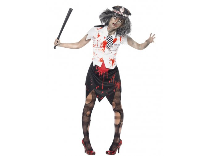 Dámský kostým zombie policistka halloween