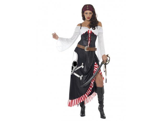 Dámský kostým pirátky s lebkou