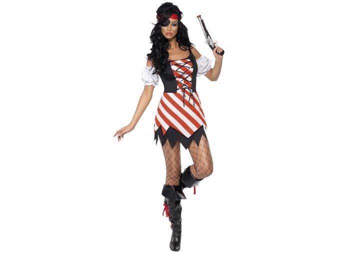 Dámský kostým pirátky mini šaty sexy