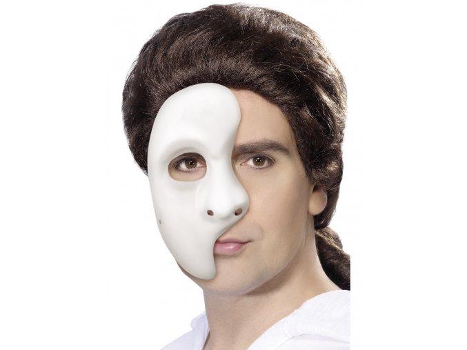 Bílá karnevalová maska fantom