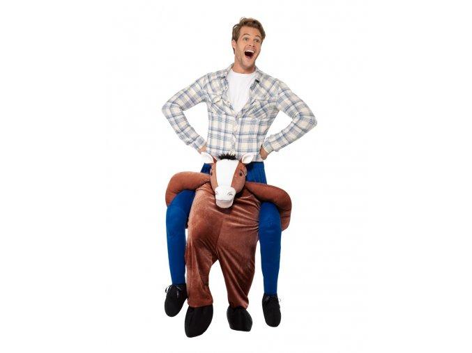 Vtipný kostým jezdec na koni