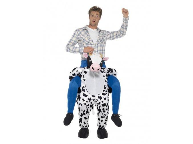crazy Kostým jezdec na krávě piggyback