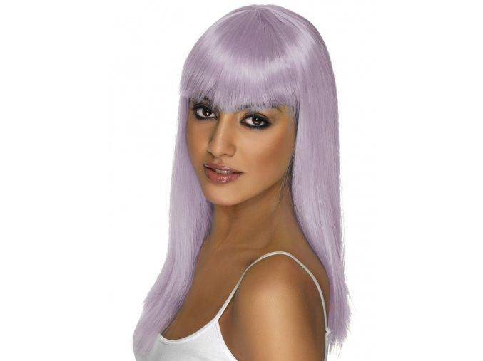 Dámská paruka pastelově fialová partyzon