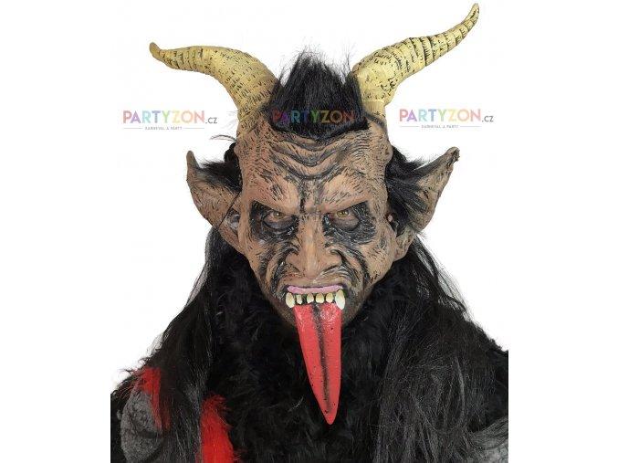 gumová maska krampus