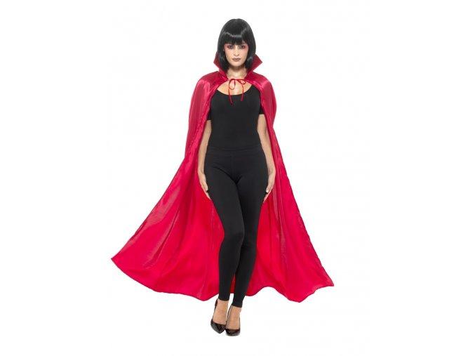 Červený plášť saténový