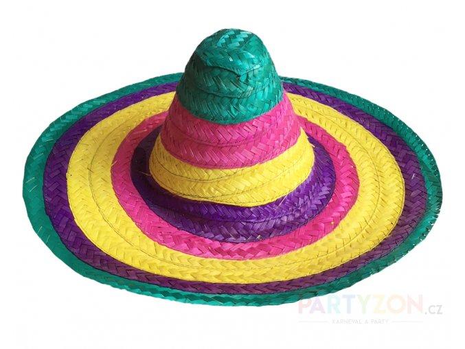 Mexické sombrero barevné levně partyzon