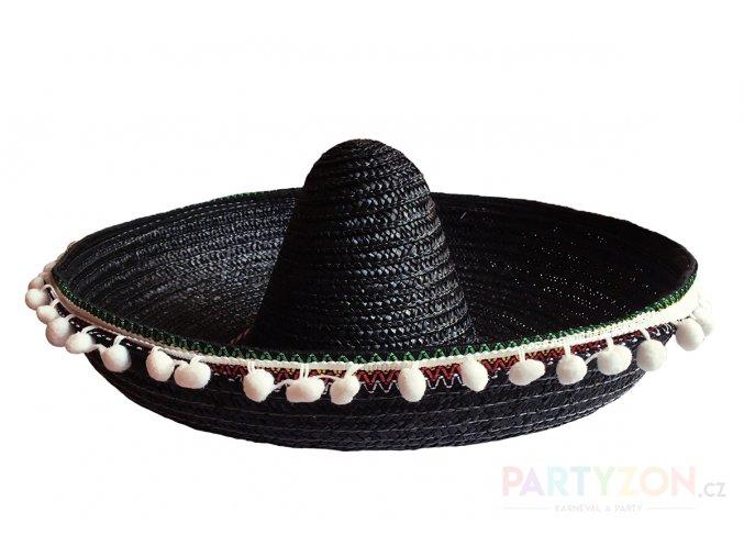 černé mexické sombrero velké