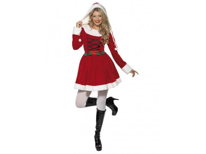 Dámský kostým Santa s kapucí