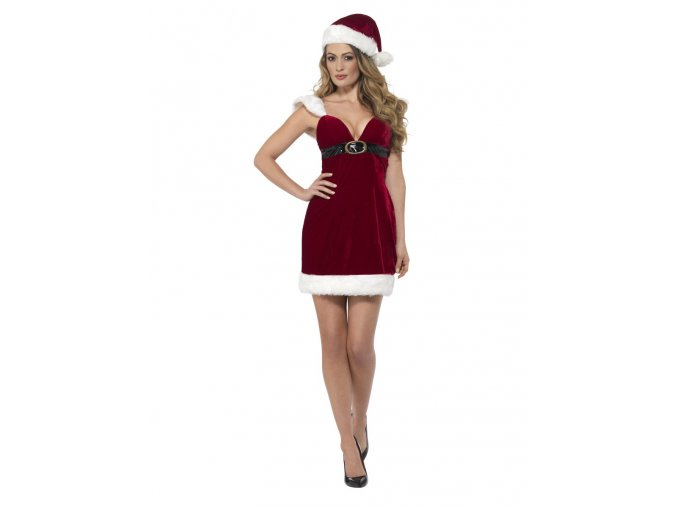 Sexy kostým Miss Santa šaty